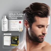 """CRESCINA rinkinys """"Vešlių plaukų revoliucija 500 (10+10)"""" Vyrams"""
