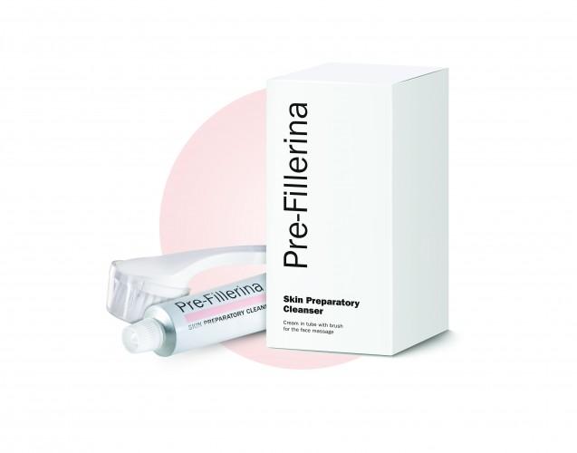 PRE-FILLERINA kreminio odos prausiklio 50 ml ir šepetėlio rinkinys