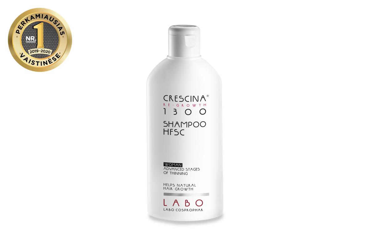 CRESCINA RE-GROWTH pilinguojantis šampūnas MOTERIMS, 1300 stiprumo, 200 ml