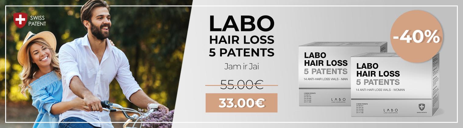 LABO 5 PATENT nuo plaukų slinkimo akcija