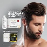 """CRESCINA grožio rinkinys """"Vešlių plaukų revoliucija 200 (10+10)"""" vyrams"""
