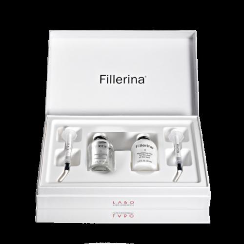 FILLERINA® dermatologinio kosmetinio užpildo rinkinys su 6 hialurono rūgštimis ir peptidais 1 lygis