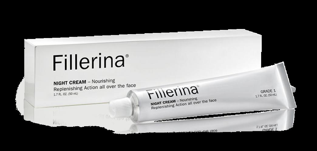 FILLERINA® Naktinis kremas su 6 hialurono rūgštimis ir peptidais 3 lygis