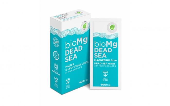 bioMg DEAD SEA + vit. B6, B12, Maisto papildas, 7 pakeliai