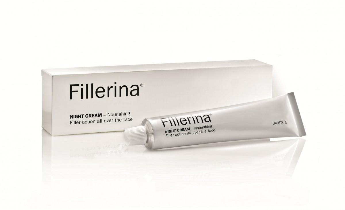 FILLERINA Naktinis kremas su 6 hialurono rūgštimis ir peptidais 1 lygis 50 ml
