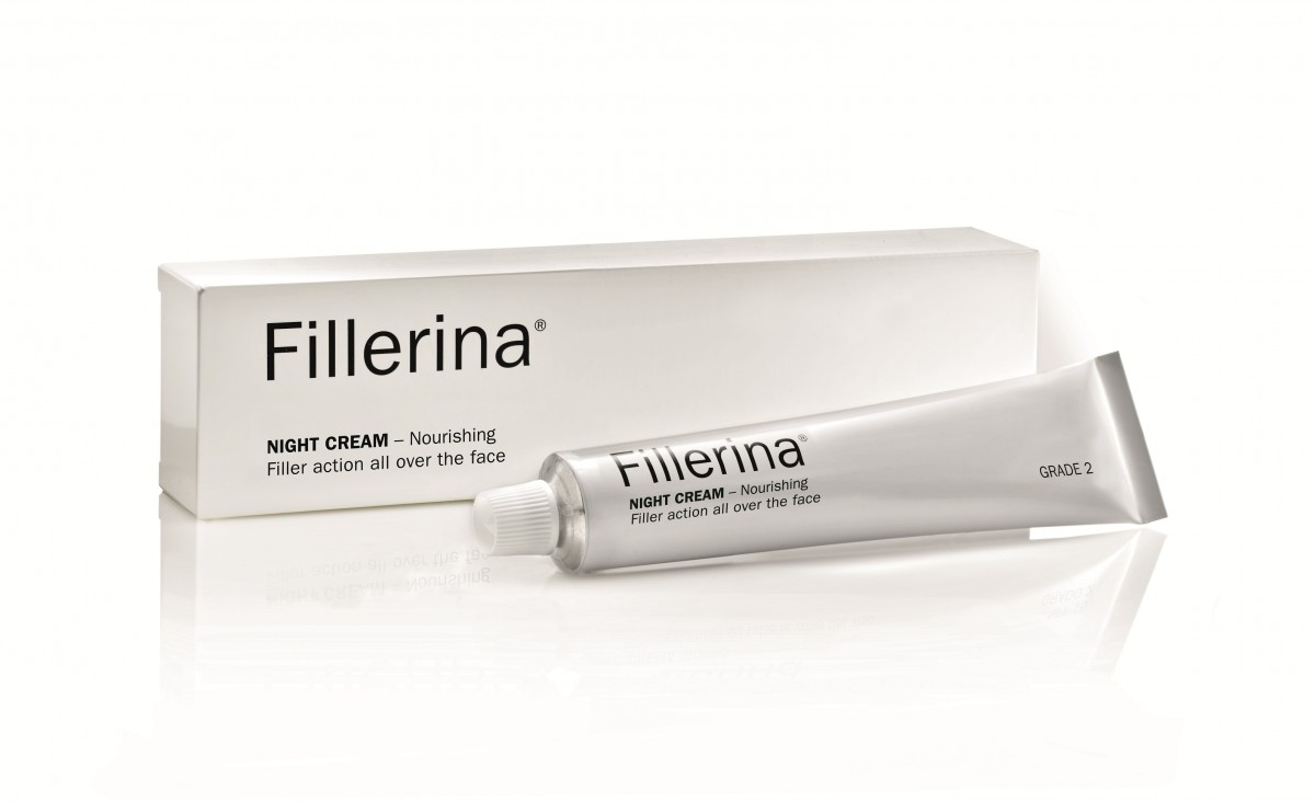 FILLERINA® Naktinis kremas su 6 hialurono rūgštimis ir peptidais 3 lygis 50 ml