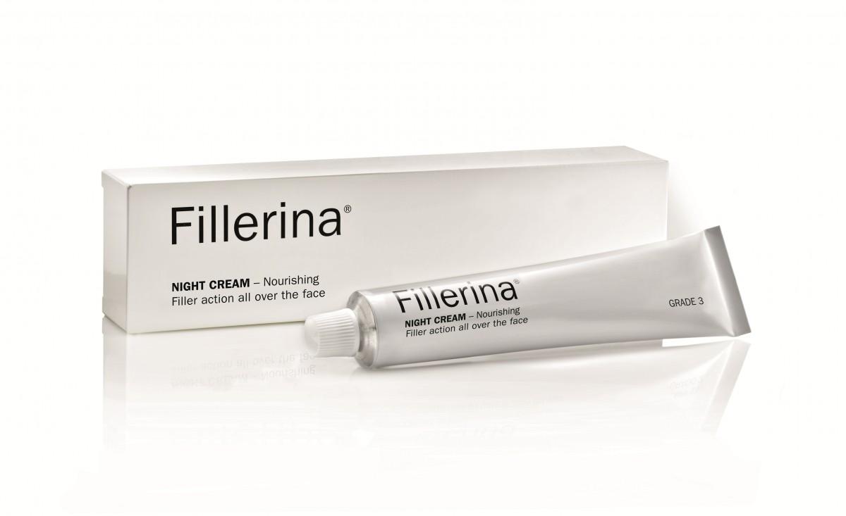 FILLERINA Naktinis kremas su 6 hialurono rūgštimis ir peptidais 2 lygis 50 ml