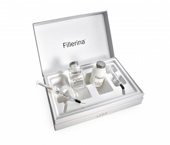 FILLERINA® dermatologinio kosmetinio užpildo rinkinys su 6 hialurono rūgštimis ir peptidais 3 lygis