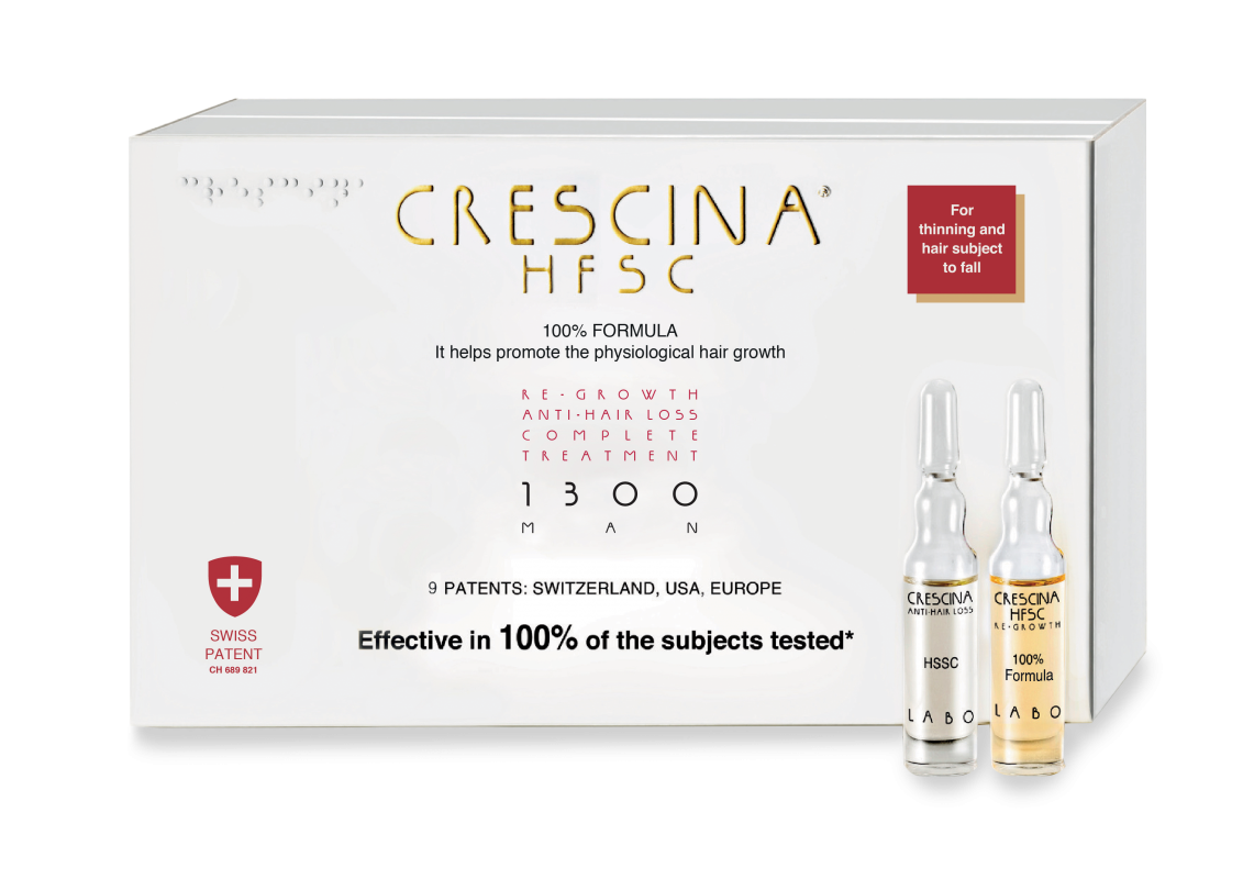 CRESCINA RE-GROWTH HFSC 1300 MAN kompleksas, 20 vnt., 10+10