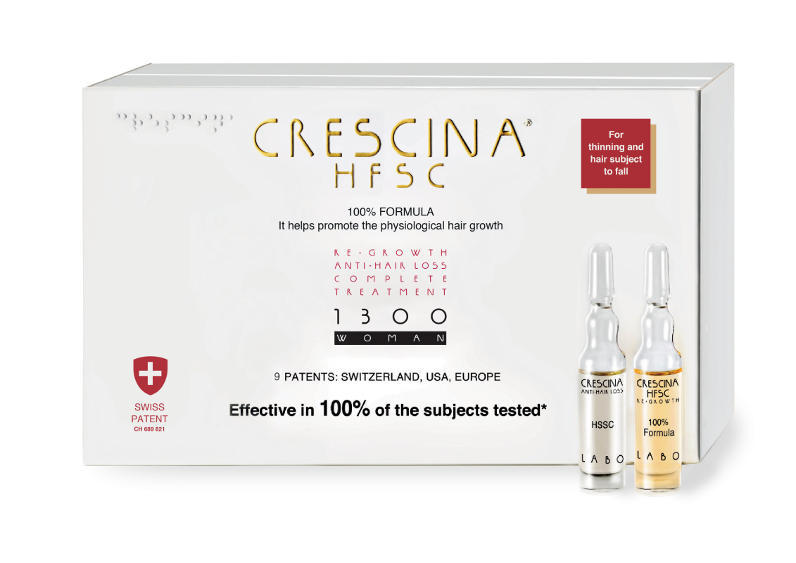 CRESCINA RE-GROWTH HFSC 1300 WOMAN kompleksas, 20 vnt. (10+10)