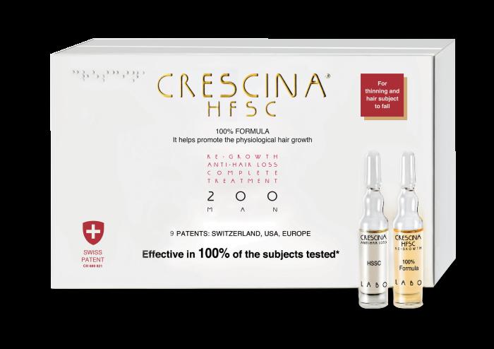 CRESCINA RE-GROWTH HFSC 200 MAN kompleksas, 20 vnt., 10+10