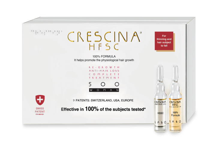 CRESCINA RE-GROWTH HFSC 500 WOMAN kompleksas, 20 vnt. (10+10)