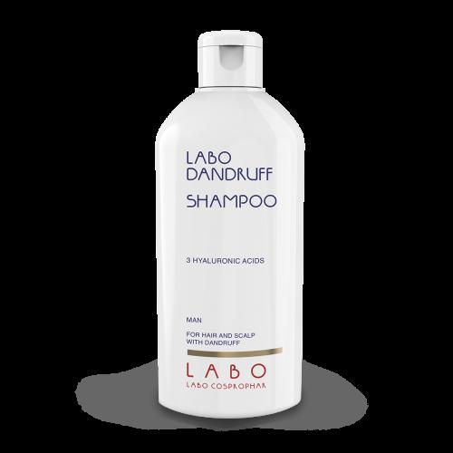 """LABO DANDRUFF"" šampūnas nuo pleiskanų su 3 hialurono rūgštimis. Vyrams."