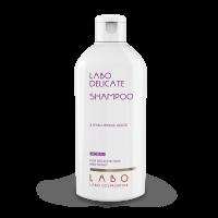 LABO DELICATE šampūnas jautriai galvos odai su 3 hialurono rūgštimis MOTERIMS, 200 ml