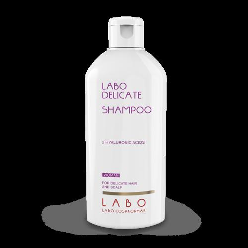 LABO DELICATE šampūnas jautriai galvos odai ir plaukams. Moterims.